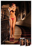 Lace G-string W/bow - Red Sm (disc)