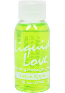 Liquid Love Warming Massage Lotion Green Apple 1 Ounce